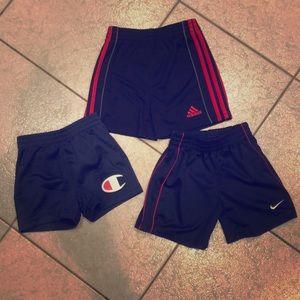 Lot of 3 baby boy gym shorts